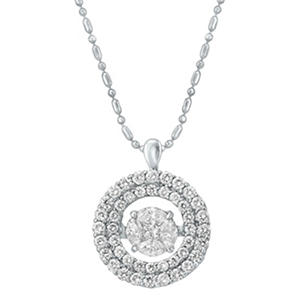 1.00 ct. t.w. Dancing Diamond Pendant in 14K White Gold (Appraisal Value: $1,700)
