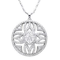2.00 ct. t.w. Diamond Medallion Pendant in 14K White Gold