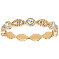 Stackable Diamond Anniversary Band in 14K Gold (Assorted Colors)
