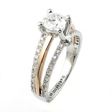 1.0 ct. t.w. Diamond Bridal Ring in 14K Rose and White Gold (H-I, I1)