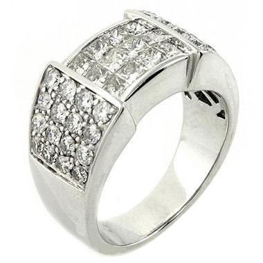 1.8 ct. t.w. Princess & Round Cut Diamond Band in 14K White Gold (H-I, SI2-I1)