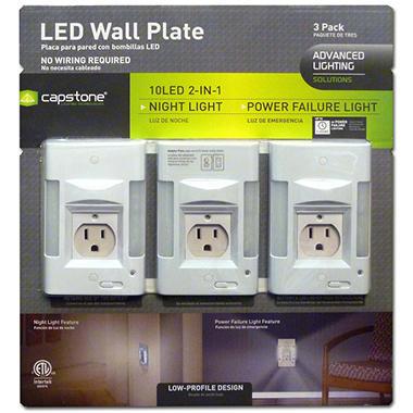 LED Wall Plate - 3 pk.