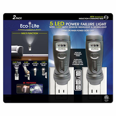 Capstone Eco-i-Lite 5 LED Multi-Function Power Failure Light - 2 pk.