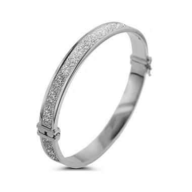 Sterling Silver Glitter Bangle