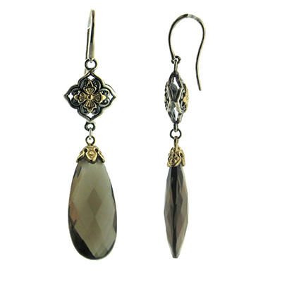 27 ct. t.w. Smokey Quartz Earrings