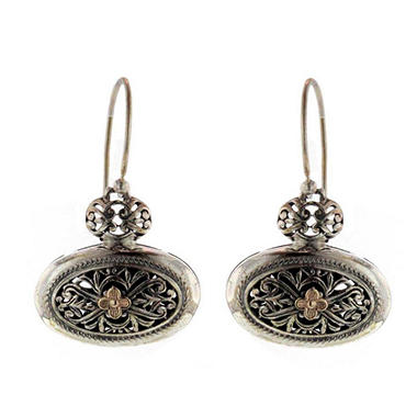 Sterling Silver & 14K Gold Earring