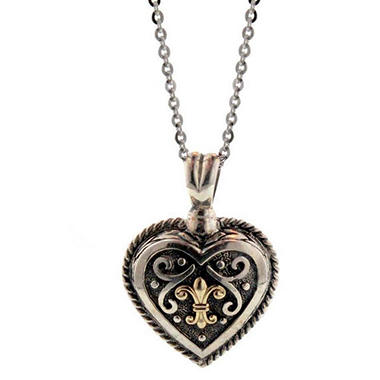 Sterling Silver & 14K Gold Heart Pendant
