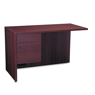 HON - 10500 Left Return Single Pedestal, Mahogany