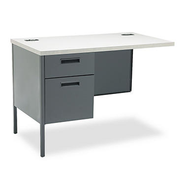 HON - Metro Classic Workstation Return - Left - Gray Patterned/Charcoal