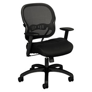 basyx by HON - VL712 Mid- Back Swivel/Tilt Work Chair - Black Mesh
