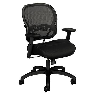 basyx by HON - VL712 Mid- Back Swivel/Tilt Work Chair - Black Mesh
