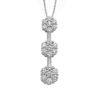 .70 ct. t.w. Diamond Flower Pendant (I, VS2)