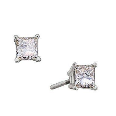 1 ct. t.w. Princess-Cut Diamond Stud Earrings (I, SI2)