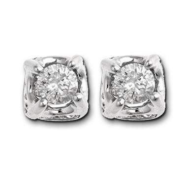 1.0 ct. t.w. Diamond Framed Stud Earrings (H-I, I1)