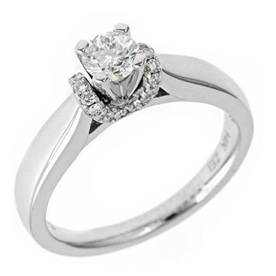 .50 ct. t.w. Regal Diamond Solitaire Plus Ring (I, SI2)