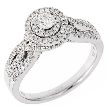 .60 ct. t.w. Regal Diamond Swirl Engagement Ring (I, SI2)