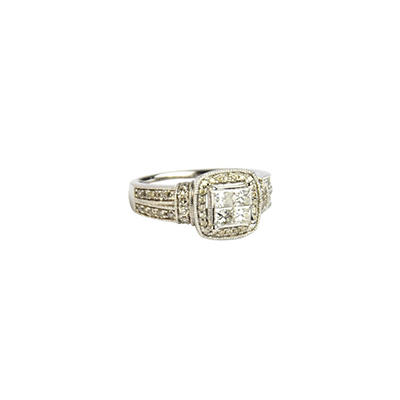1.0 ct. t.w. Princess Diamond & 14K White Gold Ring (I, I1)