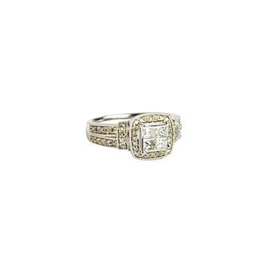 1.0 ct. t.w. Princess Diamond & 14K White Gold Ring (I, I1)
