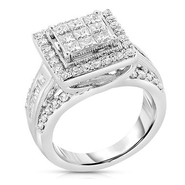 ** IGI Appraisal Value: $2,655.00 ** 1.95 CT. T.W. Diamond Bridal Ring set in 14K White Gold (I, I1)