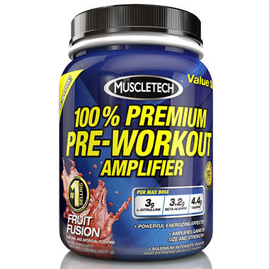 MuscleTech 100% Premium Pre-Workout Amplifier