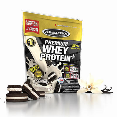 MuscleTech Premium Whey Protein Plus, Cookies & Cream (5 lbs.)