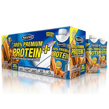 MuscleTech Premium Protein Shake Plus - Chocolate - 11 fl. oz. - 12 pk.