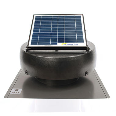 12 Watt Solar Attic Fan with Included Solar Controller