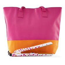 "CHI Pink Papaya 1"" Ceramic Hairstyling Iron with Tote Bag"