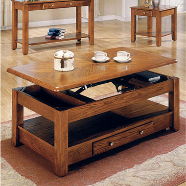 Logan Oak Lift Top Cocktail Table Sam 39 S Club