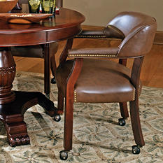 Talley Captain's Chair with Casters (Choose Color)