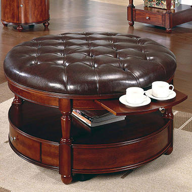 Taylor Round Cocktail Table with Drawer