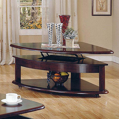 Brandon Lift-Top Wedge Cocktail Table