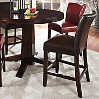 Harding Leather Counter Chair - Dark Brown - 2 pk.