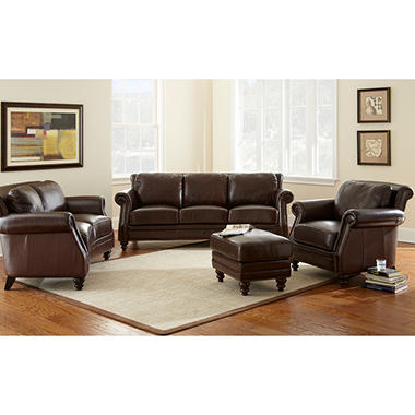 Bridford Leather Living Room Set - 4 pc.