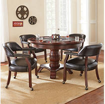 Talley Dining and Game Table Set - Brown