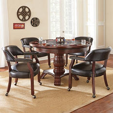 Talley Dining and Game Table Set (Choose Black or Brown)