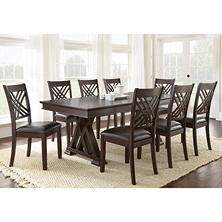 Avalon Dining Table and Chairs, 9-Piece Set