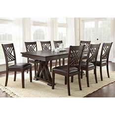Avalon Table and 8 Chairs Dining Set