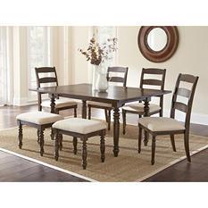 Bianca 7-Piece Dining Set with Stools
