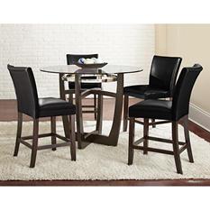 Midtown Counter-Height 5-Piece Dining Set, Black