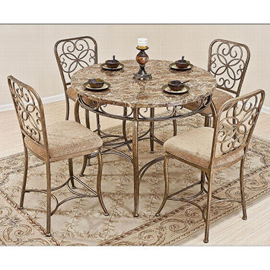 Vintage Garden Casual Gathering Table Dining Set - 5 pc.