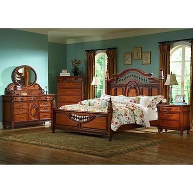 Southern Heritage Oak Bedroom Set King 5 Pc Sam 39 S Club