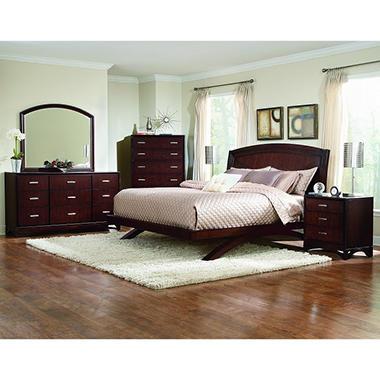 Madison Avenue Cherry Bedroom Set - King - 5 pc.