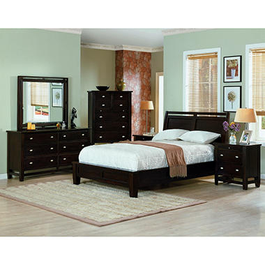 Simply Living Cherry Bedroom Set - Queen - 4 pc.