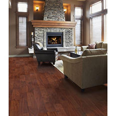 Inspired Elegance by Mohawk Burnt Walnut Laminate Flooring