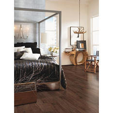"Duraloc by Mohawk 5.25"" Softscraped Java Hickory Engineered Hardwood Flooring"