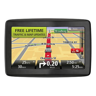 "TomTom VIA 1505TM 5"" GPS Navigator w/ Lifetime Traffic & Maps w/ Case"