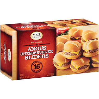 Select Signatures Premium Angus Cheeseburger Sliders - 16 pk.