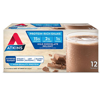 Atkins Advantage Milk Chocolate Delight Shake - 11 fl. oz. - 12 ct.