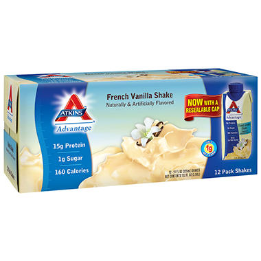 Atkins® Advantage™ French Vanilla Shake - 11 fl. oz. - 12 ct.